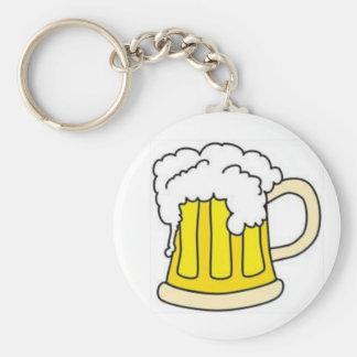 Beer In Mug/Oktoberfest Basic Round Button Keychain
