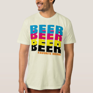 BEER in the CMYK colors, my favorite drink T-Shirt