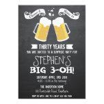 beer invitation / chalkboard beer invitation 13 cm x 18 cm invitation card