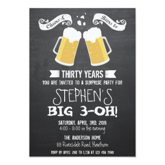 beer invitation / chalkboard beer invitation