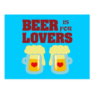 Beer is for Lovers Postcard