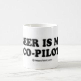 Beer is my co-pilot classic white coffee mug