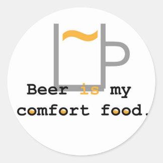 Beer is my Comfort Food Classic Round Sticker