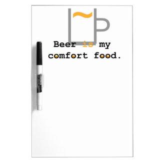 Beer is my Comfort Food Dry-Erase Boards