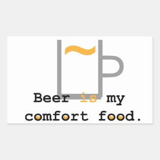 Beer is my Comfort Food Rectangular Sticker
