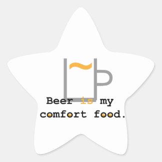 Beer is my Comfort Food Star Sticker