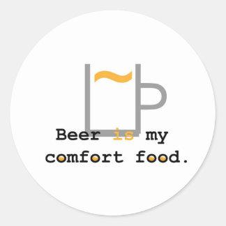 Beer is my Comfort Food Round Sticker