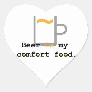 Beer is my Comfort Food Heart Sticker