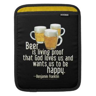 Beer is Proof (Franklin) iPad Sleeve