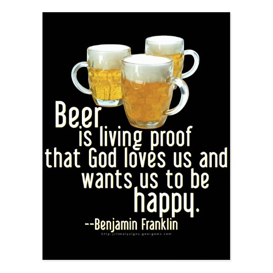 Beer is Proof (Franklin) Postcard