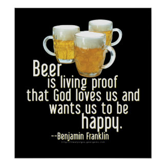 Beer is Proof (Franklin) Poster
