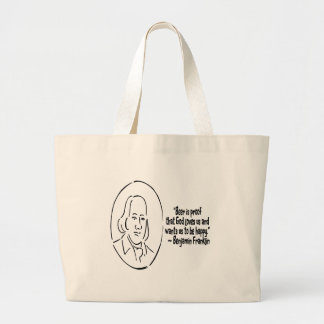 Beer is proof large tote bag