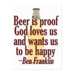 Beer is Proof Postcard