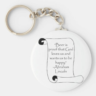 BEER IS PROOF THAT GOD LOVES US ... BASIC ROUND BUTTON KEYCHAIN