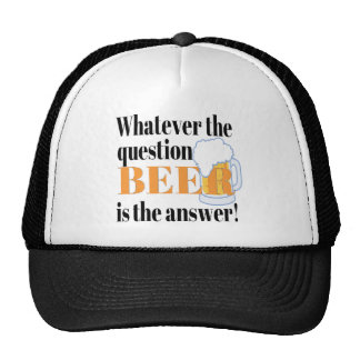 Beer is the Answer Trucker Hat