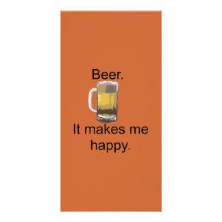 Beer. It Makes Me Happy. Card