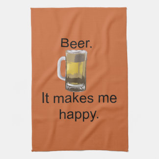 Beer. It Makes Me Happy. Hand Towel