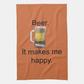 Beer. It Makes Me Happy. Towels