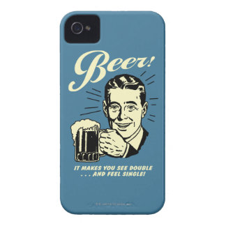 Beer: It Makes You See Double iPhone 4 Case-Mate Case