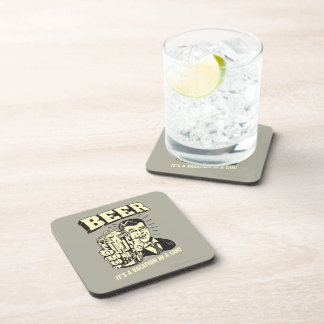 Beer: It's A Vacation In Can Beverage Coaster