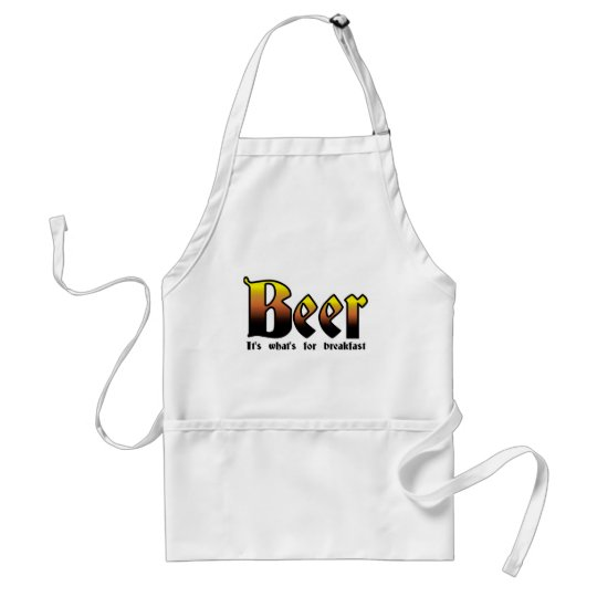 Beer - It's what's for breakfast Adult Apron
