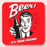 "Beer It&#39;s Your Friend Beverage Coaster<br><div class=""desc"">It can be... in moderation.</div>"