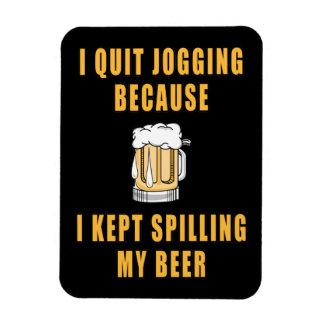 Beer Jogging Rectangular Photo Magnet