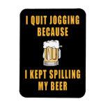 Beer Jogging Rectangular Magnet