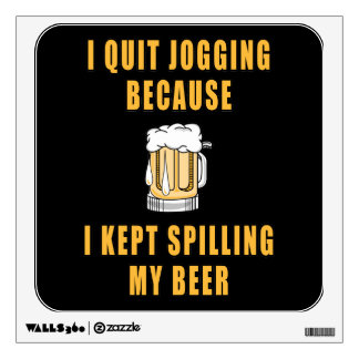 Beer Jogging Wall Decal