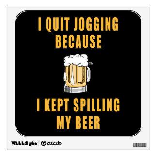 Beer Jogging Wall Sticker