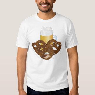 Beer jug and pretzels tees
