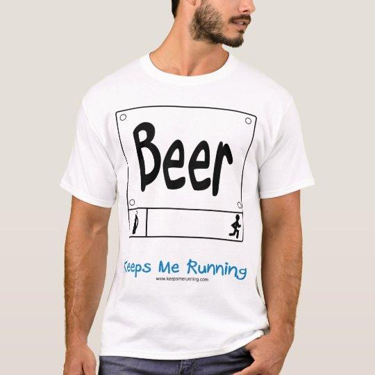 Beer - Keeps Me Running (Men's) T-Shirt