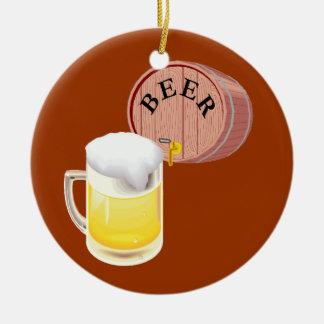 Beer keg and beer stein christmas ornaments