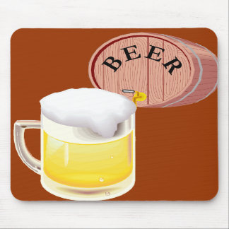 Beer keg and beer stein mouse pad