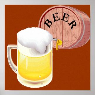 Beer keg and beer stein posters
