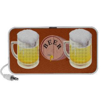 Beer keg and beer stein speaker system