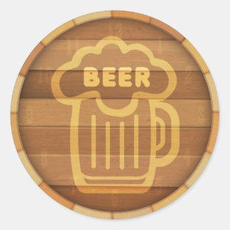 Beer Keg Classic Round Sticker