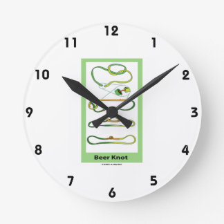 Beer Knot (Instructions) Round Wall Clock