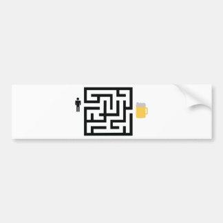 beer labyrinth icon car bumper sticker