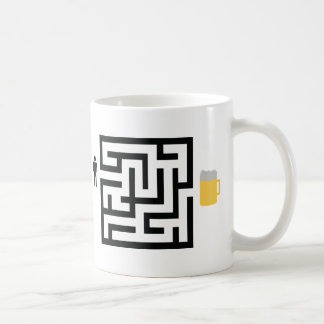 beer labyrinth icon coffee mug
