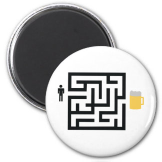 beer labyrinth icon magnet