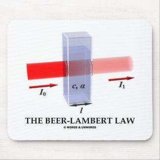 Beer-Lambert Law (Chem Optics Molar Absorptivity) Mousepads