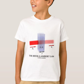 Beer-Lambert Law (Chem Optics Molar Absorptivity) T-Shirt