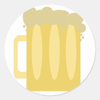 Beer Logo Classic Round Sticker