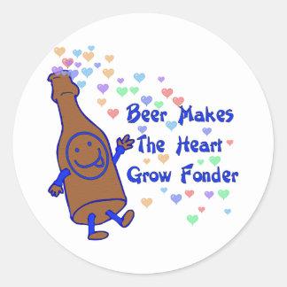 Beer Love Round Sticker