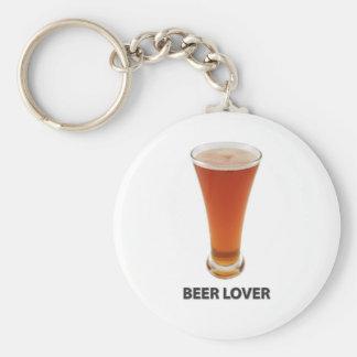 Beer Lover Basic Round Button Keychain