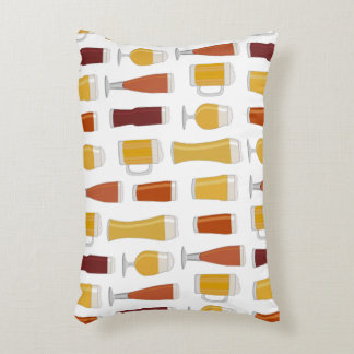 Beer Lover Print Accent Pillow