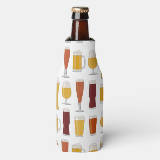 Beer Lover Print Bottle Cooler