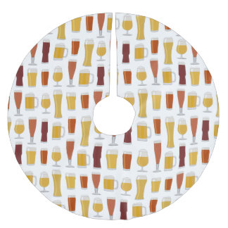 Beer Lover Print Brushed Polyester Tree Skirt