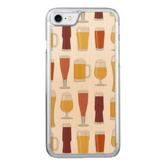 Beer Lover Print Carved iPhone 7 Case